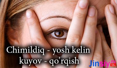 Chimildiq – yosh kelin kuyov – qo'rqish