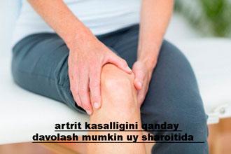 artrit kasalligini qanday davolash mumkin uy sharoitida