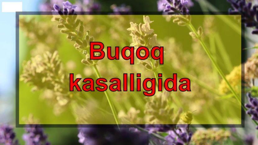 Buqoq kasalligida –  davolash – foydali maslaxatlar